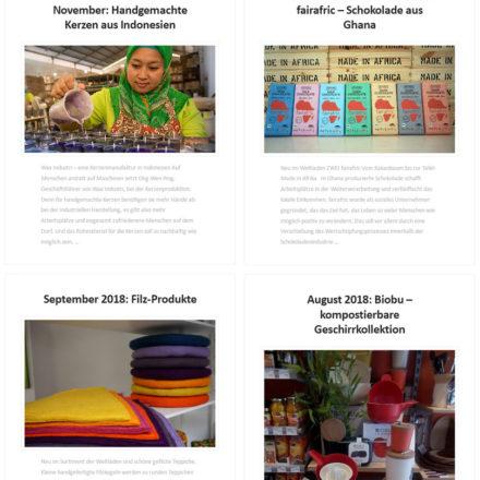 Auf der Homepage findest du die Produkte des Monats vom Weltladen Weilburg