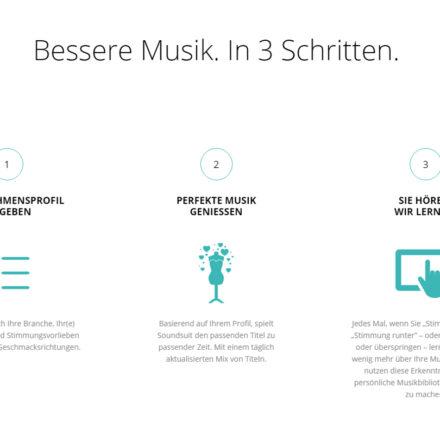Soundsuit berechnet die Musik automatisch und passt sie durch die Reaktionen der Nutzer an.  Das System lernt selbständig weiter.