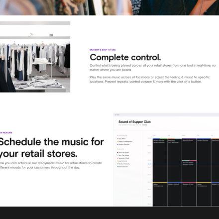 Soundtrack Your Brand ist sowohl für einzelne Geschäfte, Hotels oder Dienstleister ausgelegt als auch auf Unternehmen mit mehreren Filialen. Du kannst genau (und zentral) planen, welche Musik in deinem Geschäft/ deinen Geschäften wann abgespielt wird. Dies ist wichtig, damit du auf unterschiedlich hohe Kundenfrequenzen eingehen und unterschiedliche Stimmungen je nach Tageszeit erzeugen kannst.