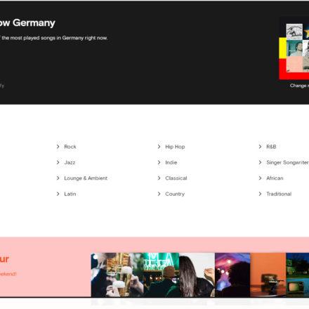 Millionen von Musiktiteln unterschiedlicher Genres stehen zur Verfügung.