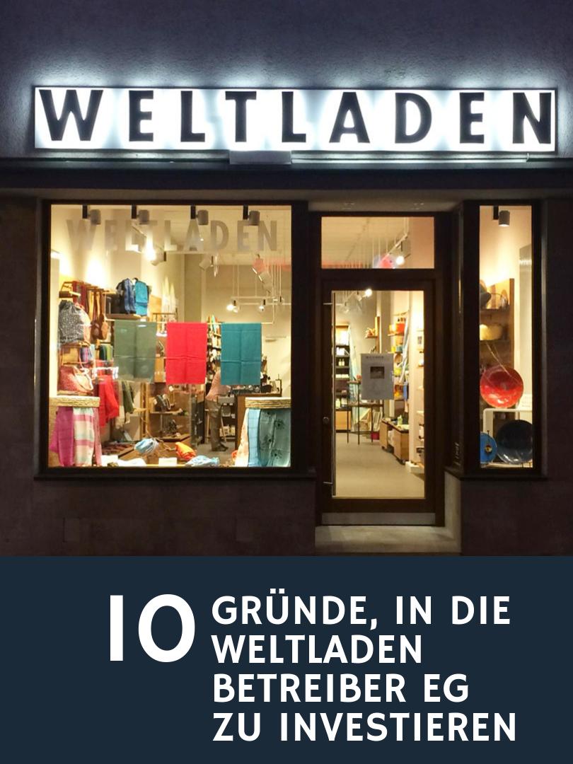 Mit deiner Unterstützung eröffnet die Weltladen Betreiber Genossenschaft bundesweit neue Weltläden und erhöht damit die Umsätze für fair gehandelte Produkte in Deutschland.