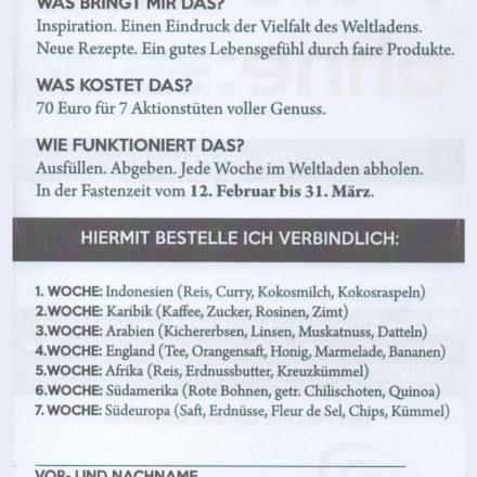 Buxtehude: Rückseite der Bestellkarte
