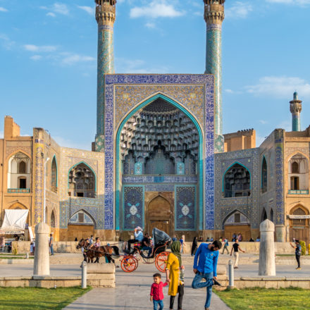 Minarette der Jame-Moschee Isfahan