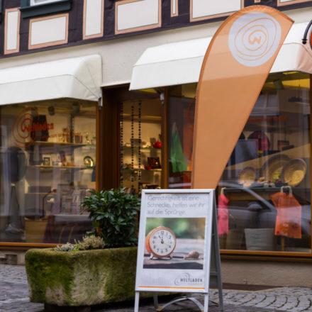 Alsfeld ist eine Kleinstadt in Mittelhessen zwischen Kassel und Frankfurt. Den Weltladen gibt es seit 15 Jahren.