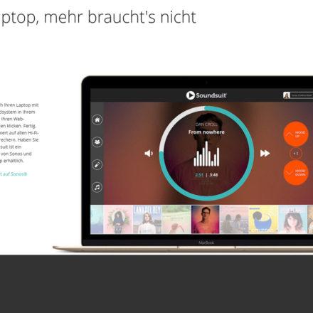 Soundsuit funktioniert ganz einfach über den Web-Browser, z.B. Safari, Chrome oder Firefox.